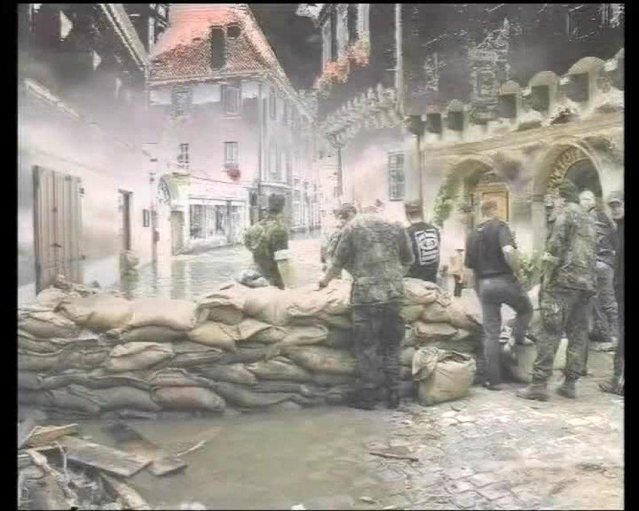 Ceský Krumlov Povoden 2002. Hochwasser 2002. Flood 2002.